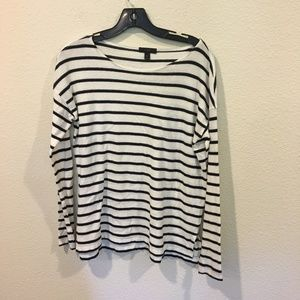 J. Crew black and white striped long sleeve tee